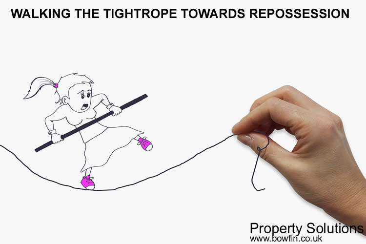 Bowfin property solutions in Dorset and Hampshire - How Many Months Mortgage Arrears Before Repossession walking the tightrope towards repossession