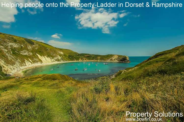 Bowfin property solutions in Dorset and Hampshire - helping people onto the property ladder - Picture of Lulworth Cove Dorset