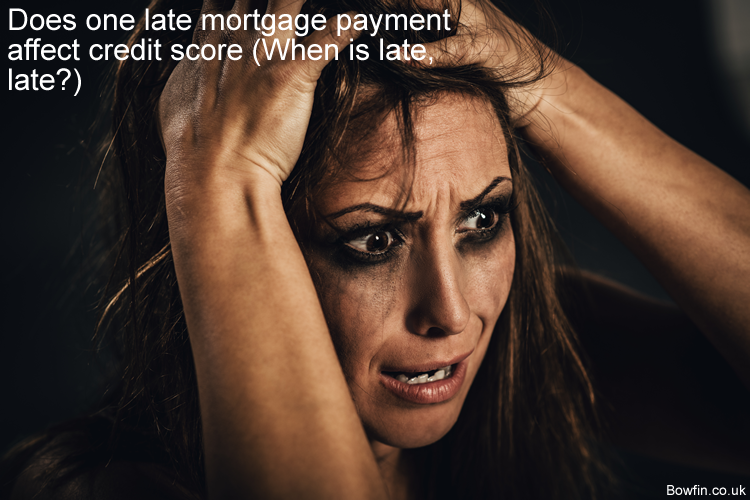 Does one late mortgage payment affect credit score - When is late, late
