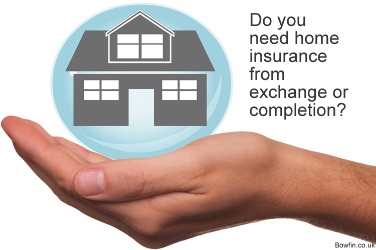 Do you need home insurance from exchange or completion